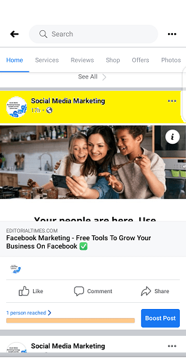 Facebook Page URL - How To Find Your Facebook Business Page Link