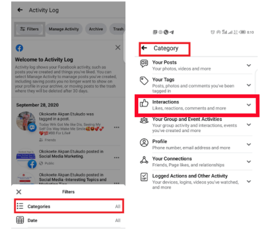 Facebook Activity Log - How To Manage What Appears on Your Timeline